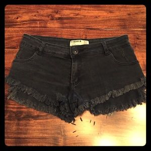 Cotton Gin Pants - Cotton Gin Colour Frayed Shorts