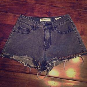 Bullhead Denim Co. Frayed High Rise Shorts
