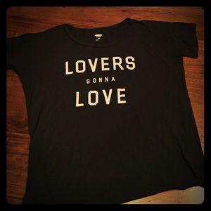 "Black Old Navy TShirt ""Lovers Gonna Love"""