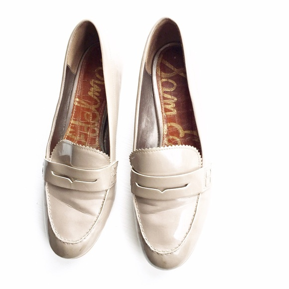 07530a06c33 Sam Edelman Etienne Nude Penny Loafers. M 57ee86cd291a3555db0052f5