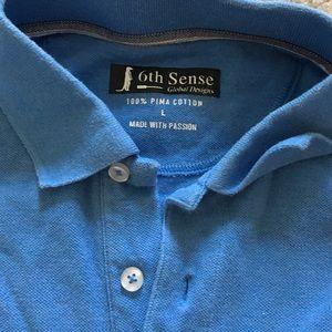 3a3c70268fe 6th sense global designs Shirts - 6th sense global designs blue polo