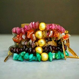 Function & Fringe Jewelry - Semi-Precious Gemstone & Gold Bracelets