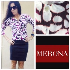 Merona soft blend sweater. Very fitting and nice.