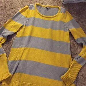 Gap Sweaters Cute Grey Yellow Striped Sweater Poshmark