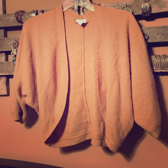 69% off ALLOY Sweaters - Alloy tan cropped shrug sweater Sz M from ...