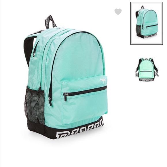 ce774e0a76 Sea foam Pink Victoria Secret Campus Backpack. M 57eea332522b455704009103