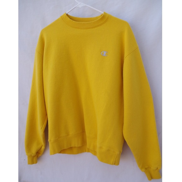 Yellow Champion Crewneck Sweatshirt