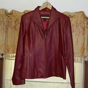 SIENA Jackets & Blazers - SIENA Strawberry Dark Red Jacket