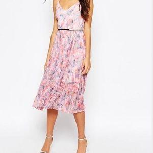 NWOT Oasis midi flower printed dress size 8 medium