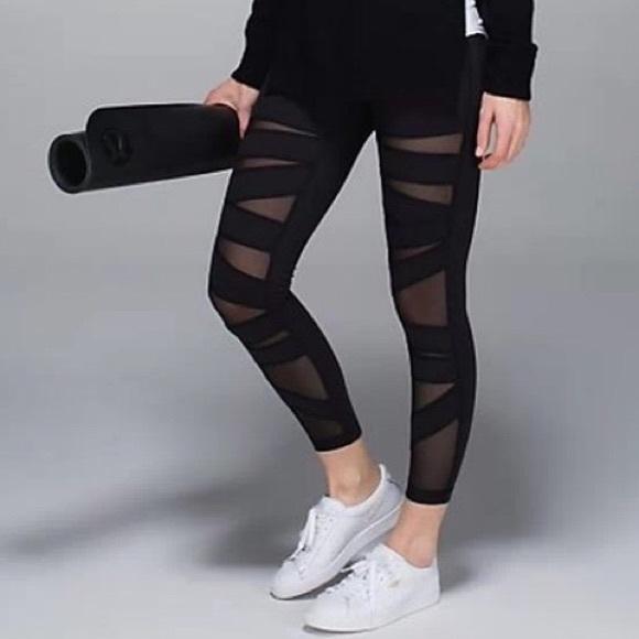 5db3e1f20b lululemon athletica Pants - RARE Lululemon High Times Tech Mesh Pants size 4
