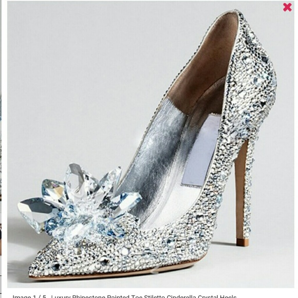 b92fb97e2fd6 FINAL LIST Silver Cinderella rhinestone stiletto