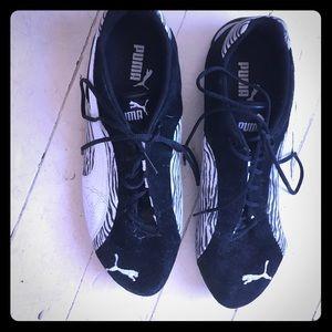Puma- zebra print sneakers size 10/ 40
