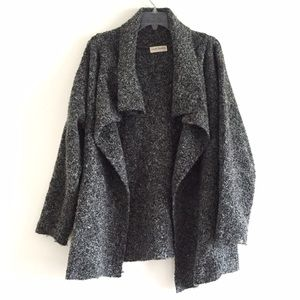GREY OPEN DRAPEY CARDIGAN