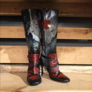 ff68200b4b6 Hand Painted One of a Kind repurposed D&G boots