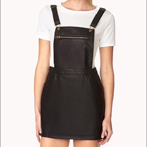 63% off Forever 21 Dresses & Skirts - Forever 21 Leather Overall ...