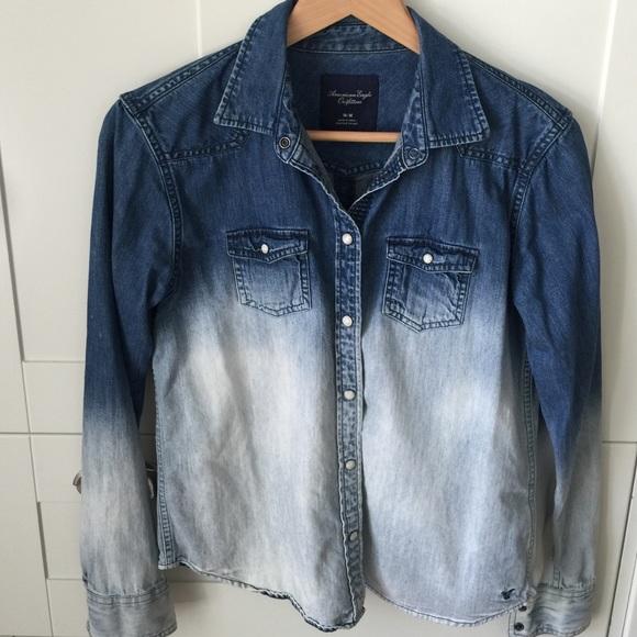fe14c9894e1 American Eagle Outfitters Tops - American Eagle ombré denim long sleeve  shirt