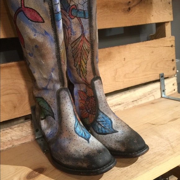 9f899b3075d Hand painted One of a Kind Cowboy Boots