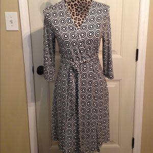 NWT Cynthia Rowley geometric print wrap dress