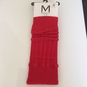Mondor Accessories - Mondor Red Leg Warmers.