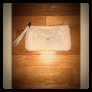 Urban Outfitters Ivory Colored Tiger Clutch