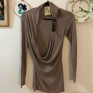 Twelve by Twelve  Tops - Top w/ faux leather strap Size L