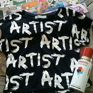 Artist crop top NWOT