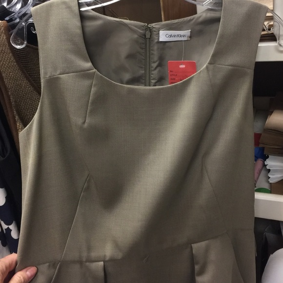 Calvin Klein Dresses - Beige Calvin Klein Shift Dress