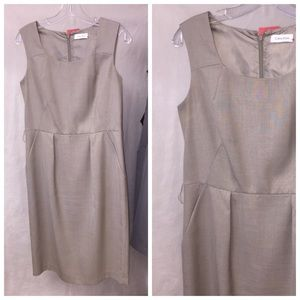 Beige Calvin Klein Shift Dress