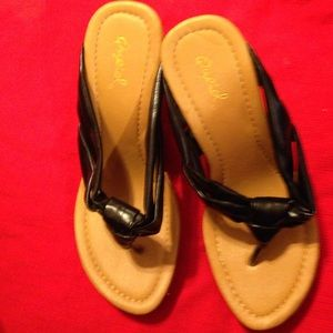 Qupid Shoes - QUPID WEDGES SIZE6 black