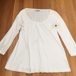 Michael Stars white flowy top - one size fits all