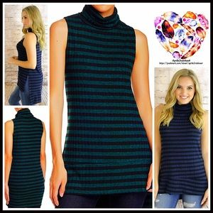 Painted Threads Tops - ❗1-HOUR SALE❗Turtleneck Striped Tunic Sweater