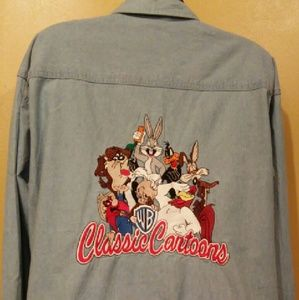 "WB ""Classic Cartoons"" Chambray Shirt"