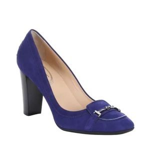 Tod's Shoes - NEW Tod's suede horsebit moc toe pumps heels Eur41