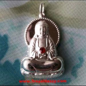 Beautiful Eternal  Buddha  Silver Hollow Pendant