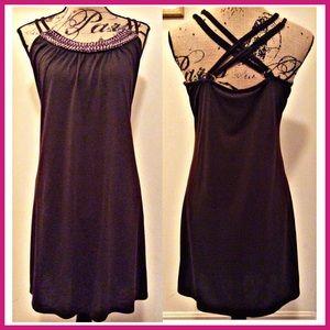 Dresses & Skirts - Beaded Neck Tank Dress FINAL⬇️