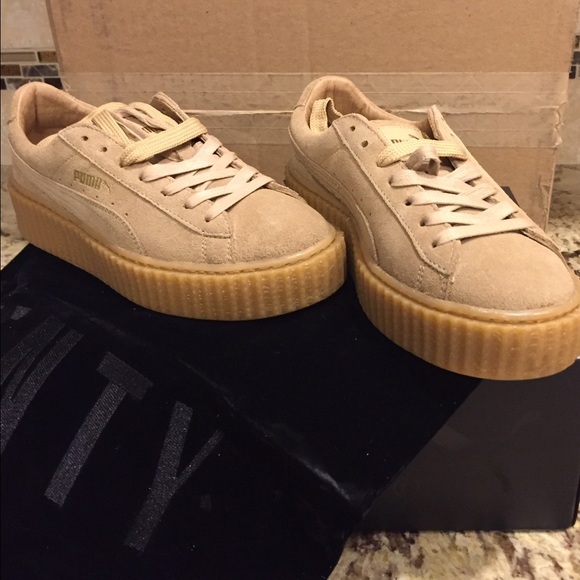 online store c5396 d382c Puma Rihanna creepers oatmeal/wheat women's size 7 NWT
