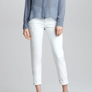 Vince Pants - VINCE 5 Pocket Relaxed Rolled Jeans Bleach Out 26