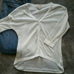 Zenana Outfitters Sweaters - ZENANA STYLES ✂️ White High-low Cardigan