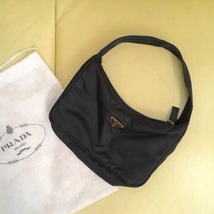 Prada nylon small shoulder bag