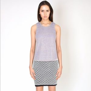 NWT Cotton Knit Chunky Pencil Skirt