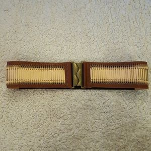 Accessories - Brown and tan weaved belt.