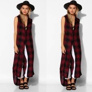 Urban Outfitters Sleeveless Flannel