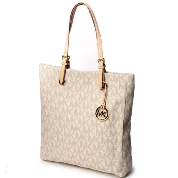 fc4001d3954c MICHAEL Michael Kors Bags | Mk Signature Jet Set North South Tote ...