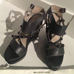 Balenciaga Anthracite wedges