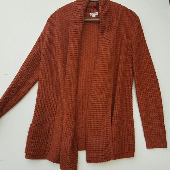 76% off Merona Sweaters - Merona NEW Burnt Orange Sweater from ...