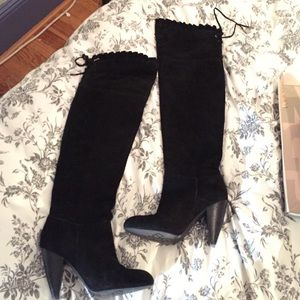 60% off BCBGeneration Shoes - BCBG Over the Knee Suede Boots! from ...