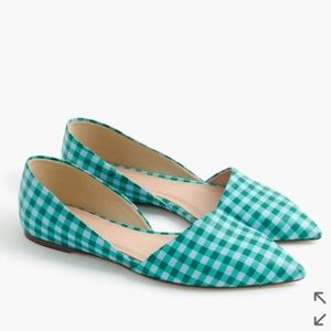 J. Crew Shoes - J. Crew Sloan gingham leather D'orsay flats