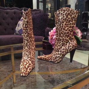 Steve Madden Leopard Calf Hair Boots
