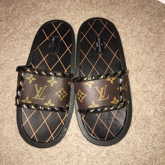 791625dec96044 Louis Vuitton Shoes - Louis Vuitton Monogram sandals slides us size 7.5