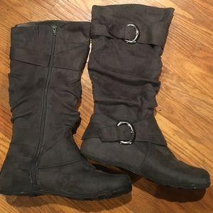 1fa81e83a0d0 Journee Collection Shoes - Journee Jester extra wide calf boot in gray